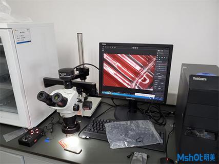 明美显微镜相机应用于深圳某制药公司晶体检测