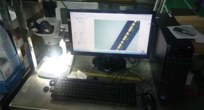 某电子公司使用明美MD30观察电路板