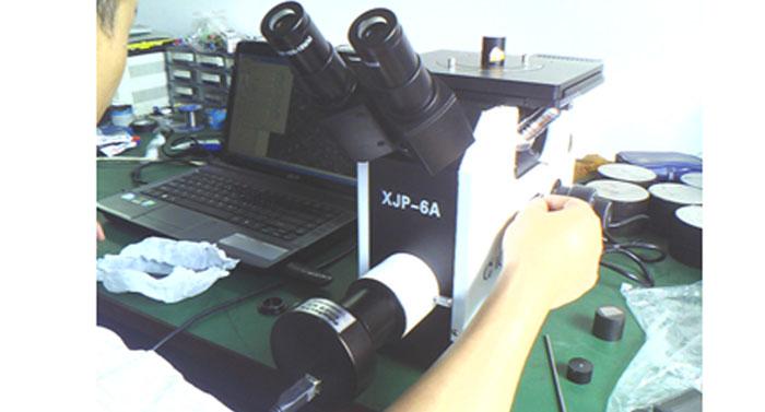 明美显微镜摄像头在国产金相显微镜下表现出色