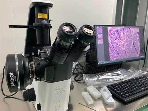 明美显微镜摄像头助力华微检测细胞观察
